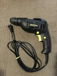 black Powerit corded hand drill Toronto, M4J 1J1