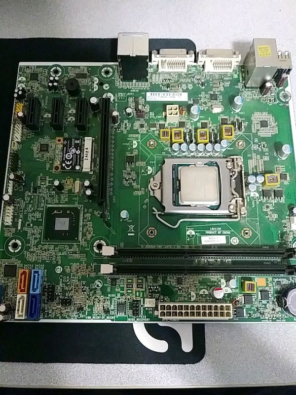 Intel Pentium G2020 cpu with motherboard.