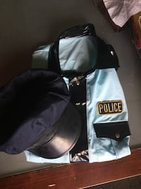 White and black Police shirt and cap set Calgary, T3A 4J6