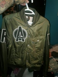 gray letterman jacket 3165 km