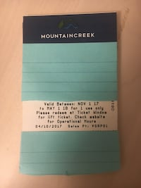 Mountain Creek Resort Lift Tickets Arlington, 22207