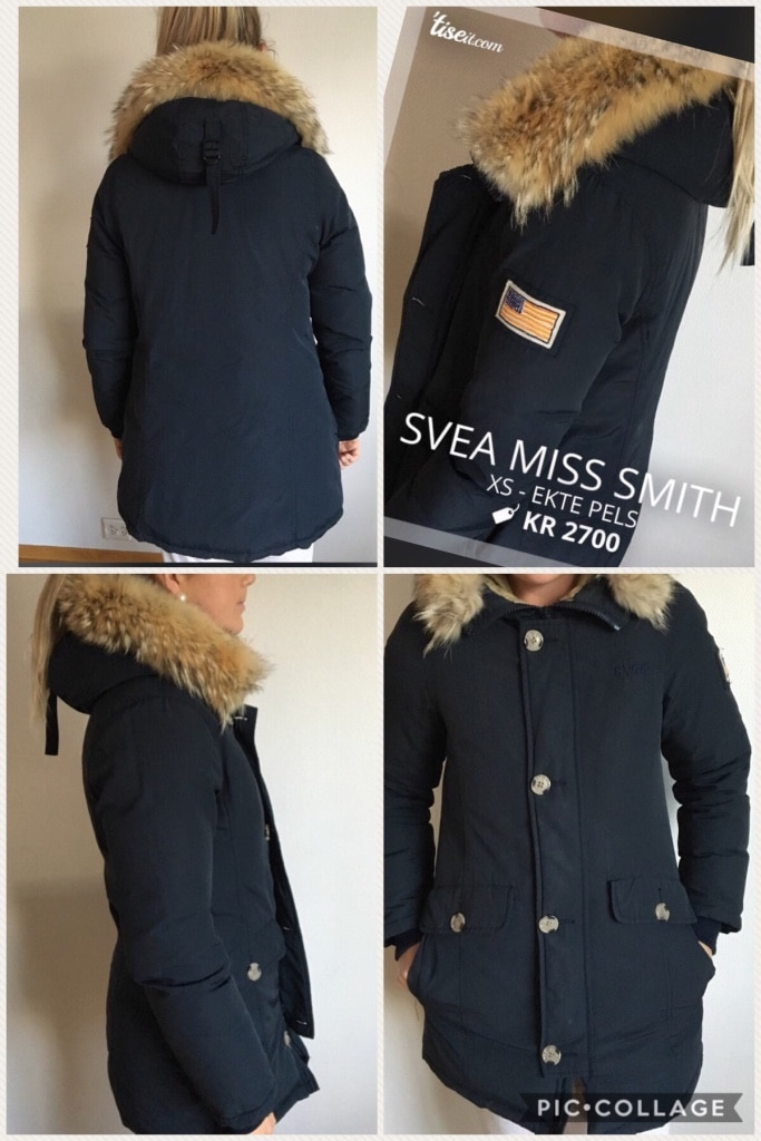 Svea miss Smith navy ekte pels