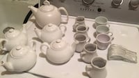 ceramic tea pots creamer jars  espresso cups and spoons Fairfax, 22033