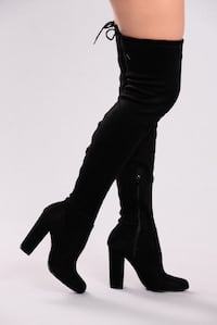 High over the knee suede chunky heel boots Mississauga, L5V 2Z3