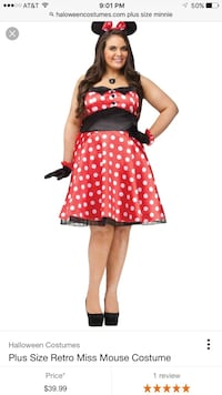 24/26 Plus Size Minnie Mouse costume