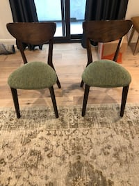 Two New Upholstered Mid Century Dining Chairs!! Both for $110!! Los Angeles, 90024