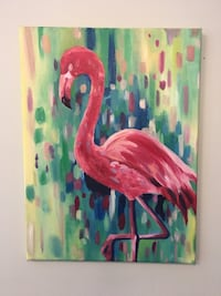 Flamingo oil painting 30 x 40 cm Vaughan, L4L