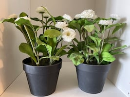 Ikea potted artificial plants