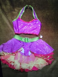 Dance costume  age 7-8 purple, fucia, yellow Mississauga, L5M 6E2