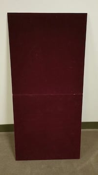 BURGUNDY-COLORED FELT TABLETOP PROTECTOR - Price is firm. Arlington, 22204
