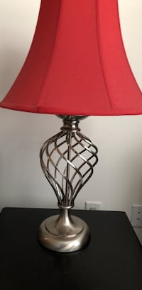 Red and silver  table lamp 47 km