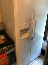 White side-by-side refrigerator with dispenser Blasdell, 14219