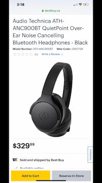 Audio Technica Noise Cancelling, Bluetooth Headphones Coquitlam, V3B 2P5