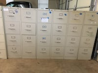 4-drawer file cabinets:  location LW 244