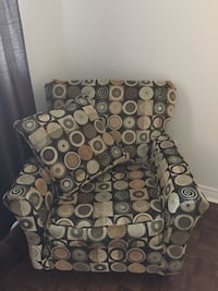 Arm chair and pillows