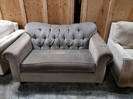 Grey Tufted Loveseat for Sale!