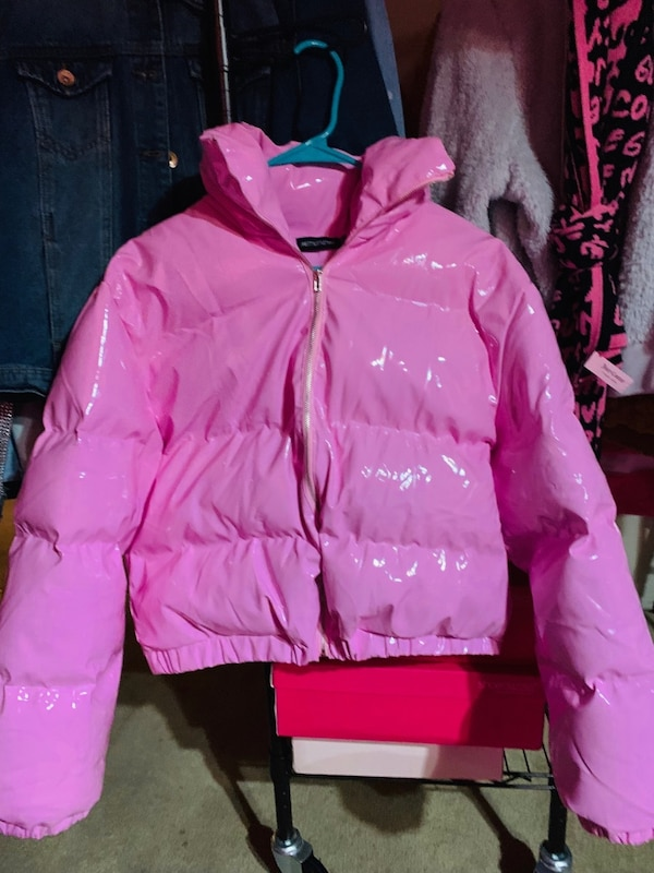 e3de5a946540 Used Pink Vinyl Puffer Jacket for sale in Fort Worth - letgo