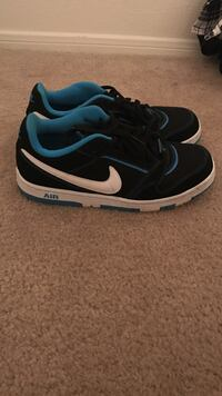 Black-and-white Nike Air shoes