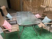 Outdoor Glass Table + Chairs Los Angeles, 90014
