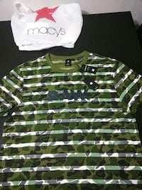 green and white stripe polo shirt 25 mi