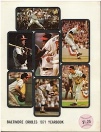 1971 BALTIMORE ORIOLES B+F ROBINSON YEARBOOK NM Caledon