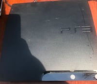 black Sony PS3 slim console 2396 mi