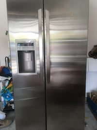 stainless steel side-by-side refrigerator with dispenser Oxnard, 93030