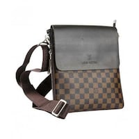 brown and black Louis Vuitton leather crossbody bag Burnaby