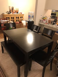 Great table set-4 chairs + bench.  San Jose, 95128