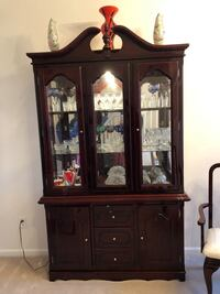 brown wooden china cabinet with cabinet Pittsburg, 94565