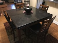 rectangular brown wooden table with four chairs dining set Drexel Hill, 19026