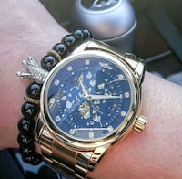 Bentley styled gold black diamond automatic watch  Toronto, M1H 3G2