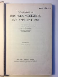 Introduction to Complex Variables and Applications by Churchill Burdur Merkez, 15100
