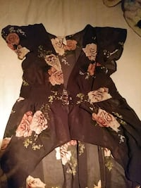 black and brown floral long-sleeved dress Houston, 77076