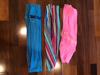 Iviva scarves (3) - Sizes 10-12 for tops and 1 pair of shorts Edmonton, T6R 0B1