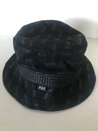 Huf X Thrasher  Head-ware  Black Bucket Hat Made In USA Size S-M Long Beach, 90804
