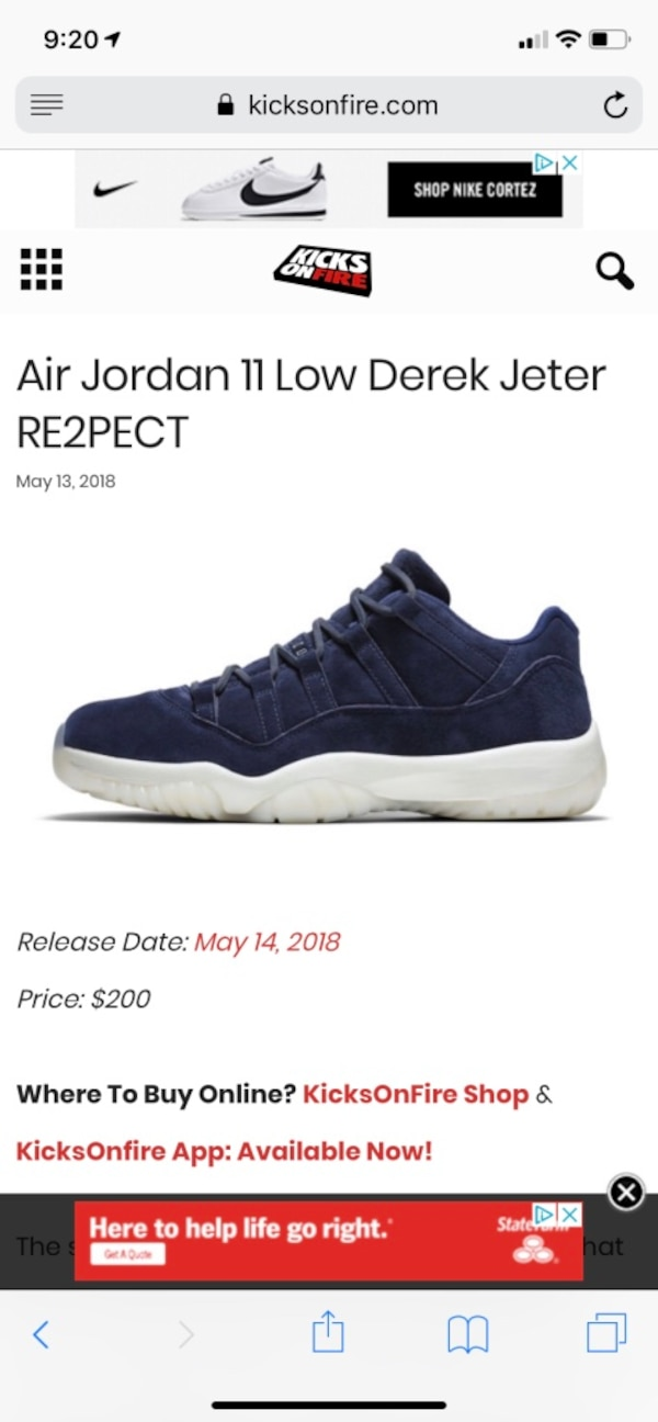 4d0e45a5f271 Used DEREK JETER RESPECT 11 lows size 11 for sale in Atlanta - letgo