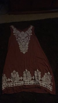 women's brown and white floral sleeveless dress Mesa, 85207