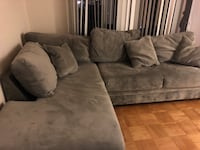 Gray fabric sectional sofa with ottoman Lincolnia, 22312