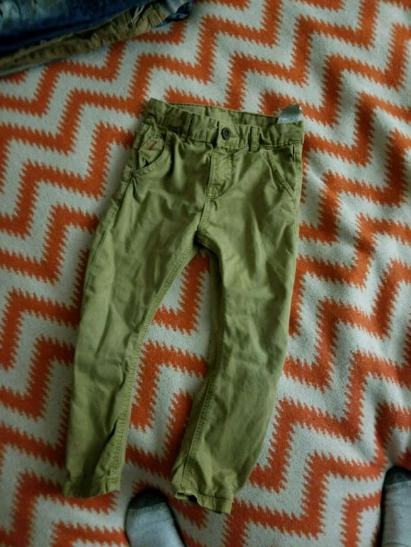 women's green and red pants