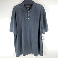 Haggar In Motion Mens XXL Black Polo