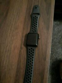 black Apple watch with black sports band Twin Valley, 56584