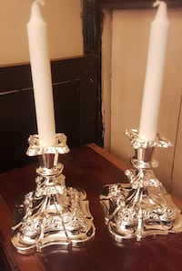 Pair of Silverplated Candlesticks