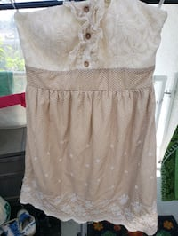 Cute summer strapless dress - small