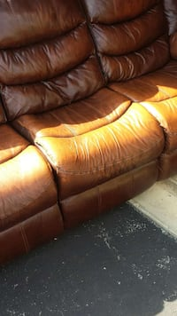 Genuine Leather Couch And Love Seat In Lima Letgo