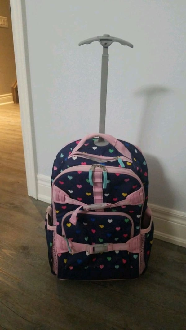 pottery barn girls back pack with wheels  aa6ea347-7879-475c-87e7-0753af6fbd96