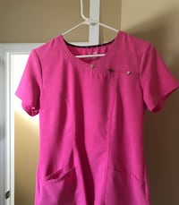 Heart and Soul scrub top very cute pink size small West Melbourne, 32904
