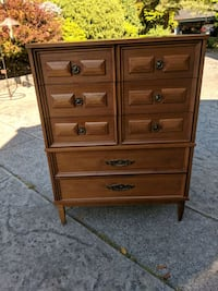 brown wooden 6-drawer dresser North Vancouver, V7J 2H1