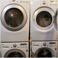 White Lg stackable washer and dryer Pickering, L1V 6P5