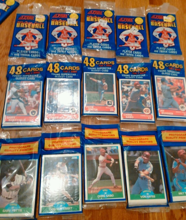 Used Lot Of 1989 Score Baseball Card Sealed Rack Packs For Sale In